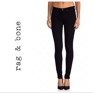 Rag & Bone Legging  Skinny Black Jean Sz 25